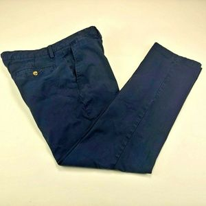 Club Room Men's Pants Navy Blue Stretch Chino 34W